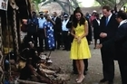 Britain's Prince William and wife Catherine head to a secluded corner of the Solomon Islands in a war canoe as their lawyers lodge a criminal complaint in France over topless photos of her.