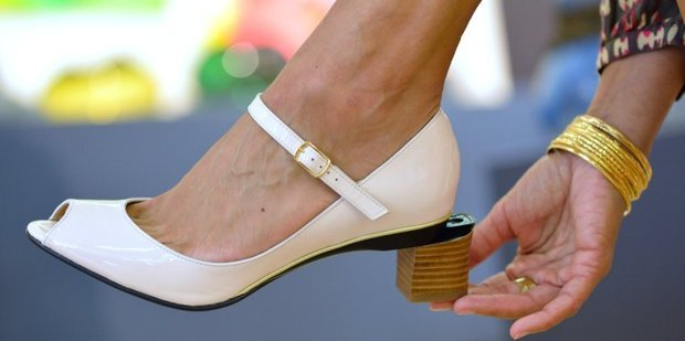 The first multi-height heel. Photo / AFP