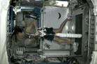NASA astronaut Sunita Williams completes the triathlon from space. Photo / NASA TV