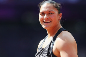 Valerie Adams arrives in Auckland tomorrow morning. Photo / Getty Images