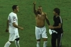 A euphoric Uruguayan player at Turkish top flight side Kasimpasa was quickly sent crashing back down to earth when his goal celebrations were cut short by a fan stealing his shirt.