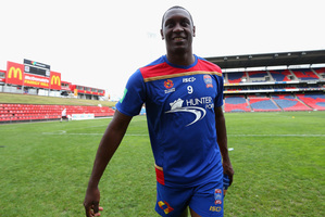 Heskey didn't confirm whether he'd be playing in the Jets' first match against Adelaide United next Sunday. Photo / Getty