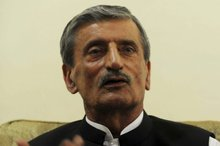 Haji Ghulam Ahmed Bilour called for the Taleban and Al-Qaeda to kill the maker of an anti-Islam film. File photo / AFP 