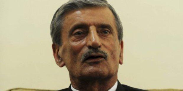 Haji Ghulam Ahmed Bilour called for the Taleban and Al-Qaeda to kill the maker of an anti-Islam film. File photo / AFP
