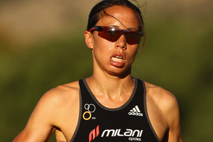Andrea Hewitt lost ground on her rivals jostling for the world triathlon title. Photo / Getty Images.