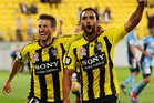 Wellington Phoenix drew 1-1 with the Western Sydney Wanderers in Christchurch today, with Jeremy Brockie scoring his 15th pre-season goal. Photo / Getty Images.