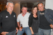 (Left to right) All Blacks supporters Bruce Young, Chris Rutten, Lou Vipond and Donna Rutten enjoying Buenos Aires charms. Photo / James Ihaka