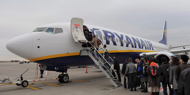 Budget carrier Ryanair accounts for almost 70 per cent of traffic through Stansted Airport. Photo / AP