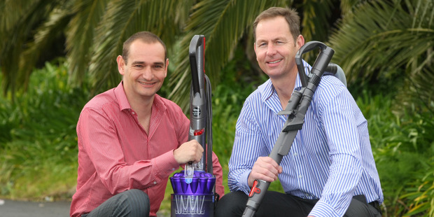 Mark Robinson (left) and Brett Avery were only in their mid-20s when they won the Dyson deal. Photo / Chris Gorman