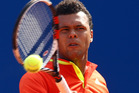 Jo-Wilfried Tsonga could bring his crowd-pleasing style to Auckland. Photo / Getty Images