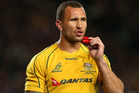 Quade Cooper is unhappy with the Wallabies' coach.  Photo / Getty Images