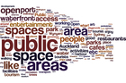 A thousand readers have given their ideas on what they want to see on the waterfront. The most common phrases are illustrated in the diagram above, created on wordle.net, letter sizes reflecting how often they were repeated. Photo / Supplied