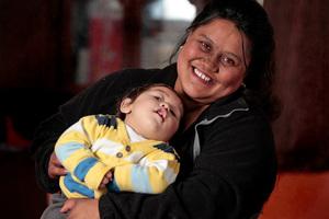 Rewi Hohepa-Penny with mum Charlene. Photo / Michael Craig