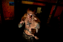 MMA fighter Phil Brown, an A-class amateur, is looking to bounce back from a knockout defeat. Photo / Brett Phibbs
