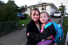 Resident Rosetta Goodfellow and her daughter Kyrah-Lee, 4, in Beeston Crescent, Manurewa. Photo /  Steven McNicholl