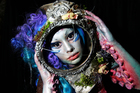 Make up by artist Myrtha Heydenrijk. Photo / Doug Sherring