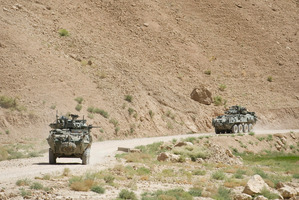 The Kiwi team in Afghanistan is well-equipped with LAVs which have proved their worth. Photo / NZDF