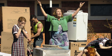 Rebecca Gibney (centre) plays slightly nutty mother Shirley Moochmore in the PJ Hogan-directed movie. Photo / Supplied