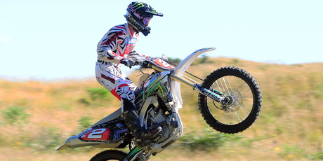 Pahiatua's Paul Whibley (Yamaha YZ450F) is edging closer to the No.1 spot in the USA for the second time in his career. Photo / Andy McGechan, BikesportNZ.com