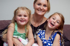 Nikki Horne with her daughters conceived by IVF, Madison, 5, and Brooklyn, 3. Photo / Natalie Slade