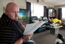Alan Hall is battling IAG insurance over wrecked food, a bed and carpet.  Photo /