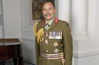 Sir Jerry Mateparae wearing a Ceremonial Service Dress All Ranks Uniform.
