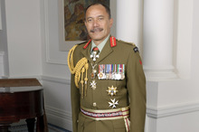 Sir Jerry Mateparae wearing a Ceremonial Service Dress All Ranks Uniform. 
