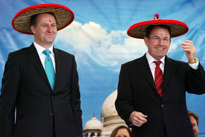 John Key and John Banks, here at a 2008 cultural festival, have been made to look like fools. Photo / Getty Images