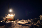 The Tara's scientific research has included getting locked in Arctic Sea ice so its crew could study climatic conditions in the polar regions. Photo / Supplied