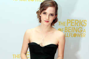 Emma Watson at the London screening of The Perks of Being a Wallflower. Photo / AP