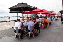 People enjoy the ease of access and cafe lifestyle of Wynyard Quarter.  Photo / APN