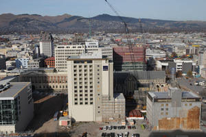 The earthquake damaged Christchurch Central Red Zone. Photo / Geoff Sloan