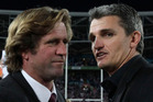 Des Hasler with former Warriors coach Ivan Cleary. Photo / File