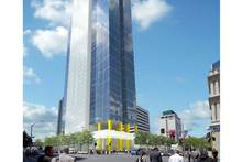An artist's impression of a tower at the central business district site for which the previous owner had resource consent. Photo / The Aucklander 
