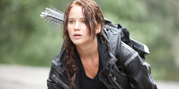 Jennifer Lawrence stars in a movie based on  The Hunger Games  book series, voted the top read by New Zealand children. Photo / Roadshow
