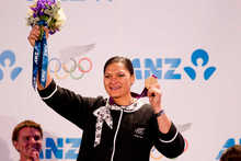 Valerie Adams' delayed medal presentation took place in front of a proud crowd.
