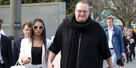 Kim Dotcom and his wife, Mona. Photo / Mark Mitchell