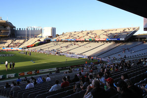 Small crowd at Eden Park, one of the world's worst. Photo / Greg Bowker