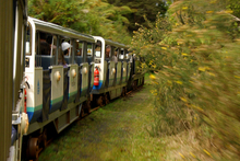 The Rain Forest Express takes passengers to the dam. Photo / The Aucklander