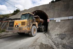 The entrance of the Newmont Waihi Gold company's underground Favona Mine at Waihi. Photo / Richard Robinson