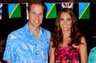 The royal couple accidentally wore clothes from the Cook Islands to a dinner in the Solomon Islands. Photo / AP