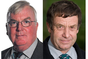 Simon Friar (left) and Peter Buckley (right) did not return calls from the Herald yesterday regarding private spending by government officials. Photo / Supplied