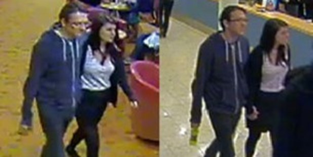 Police have released a photo of Megan Stammers and Jeremy Forrest on board a ferry to France. Photo / Sussex Police