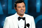 Seth MacFarlane admitted he hadn't attended rehearsals after a microphone fail at the Emmys. Photo / AP