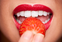 Strawberries not only pack a nutritional punch, they can also be used to brighten up that smile. Photo / Thinkstock