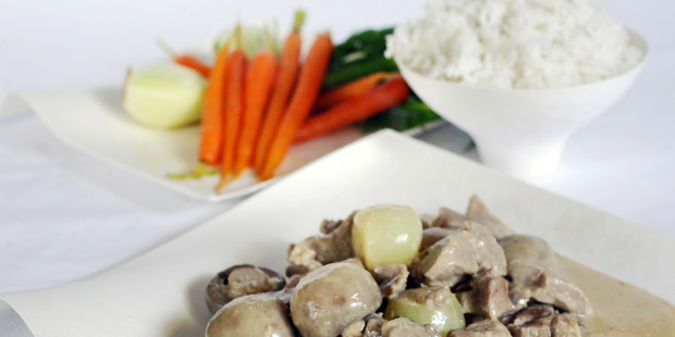 Blanquette de Veau is a French dish in which the meat is not browned. Photo / Doug Sherring