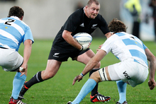 Tony Woodcock and Dan Carter are the only two remaining players who started against the Pumas when the All Blacks last played in Argentina in 2006. Photo / Mark Mitchell