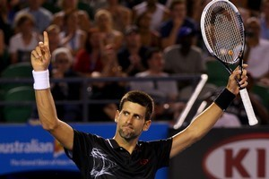 Novak Djokovic will now play Spaniard David Ferrer in the quarter-finals. Photo / Getty Images