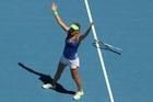 Victoria Azarenka celebrates winning her quarter final match against Agnieszka Radwanska. Photo / Getty Images