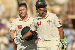 Michael Clarke and Ricky Ponting put Australia in charge on day one. Photo / Getty Images